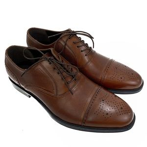 Reaction Kenneth Cole Wingtip Laced Up Shoes Brown